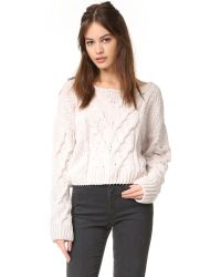 Free People | White Sticks And Stones Pullover | Lyst
