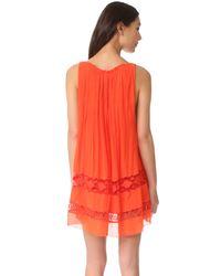 Free People - Red Costa Brava Mini Dress - Lyst