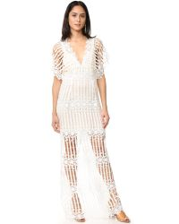 Free People   Natural Night Whispers Lace Maxi Dress   Lyst