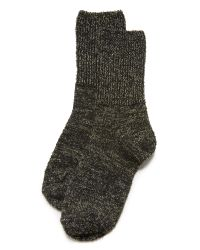 Free People | Black Cece Shimmer Socks | Lyst