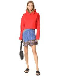 Free People | Red Dance This Way Printed Skirt | Lyst
