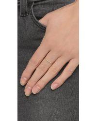 Gabriela Artigas - Metallic Pave Diamond Mini Axis Ring - Lyst