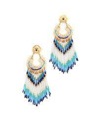 Gas Bijoux | Blue Fringe Earrings | Lyst