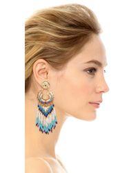 Gas Bijoux - Blue Fringe Earrings - Lyst