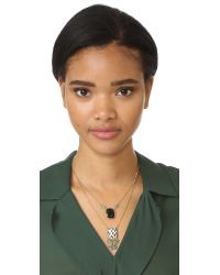 Gas Bijoux - Green Scapulaire Serti Totem Necklace - Lyst
