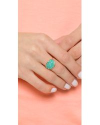 Ginette NY - Blue Fallen Sky Large Sequin Ring - Lyst
