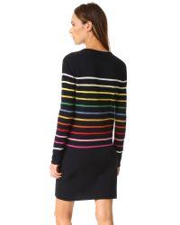 Goen.J - Blue Knit Rainbow Stripe Dress - Lyst