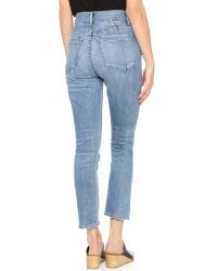 Goldsign - Blue Glenn High Rise Ankle Jeans - Lyst