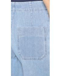Goldsign - Blue Karla Crop Trouser Jeans - Lyst