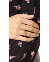 Gorjana - White Mini Stackable Ring Set - Lyst