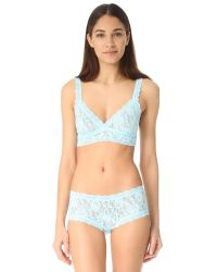 Hanky Panky | Blue Signature Lace Crossover Bralette | Lyst