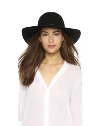 Hat Attack | Black Wool Felt Round Crown Floppy Hat | Lyst