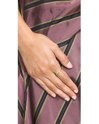 Holly Dyment - Green Little White Enamel Snake Ring - Lyst