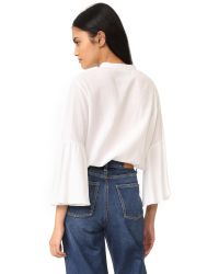 M.i.h Jeans - White Goldie Shirt - Lyst