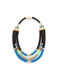 Holst + Lee | Blue Day At The Beach Tri Strand Necklace | Lyst