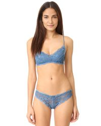 Honeydew Intimates | Blue Camellia Lace Thong | Lyst