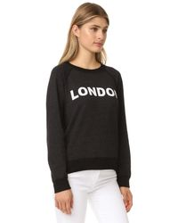 Monrow - Black London Vintage Sweatshirt - Lyst