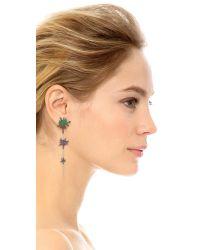 Joanna Laura Constantine - Green Splatter Linear Drop Earrings - Lyst