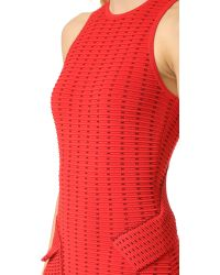 Jonathan Simkhai - Red Dasha Knit Slit Dress - Lyst
