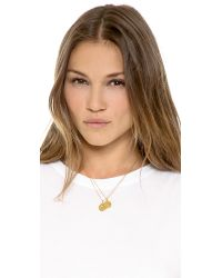 kate spade new york - Metallic Letter Pendant Necklace - Lyst