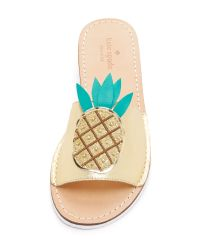 kate spade new york - Natural Ibis Pineapple Slides - Lyst