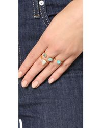 kate spade new york | Blue Stack Attack Stackable Ring Set | Lyst