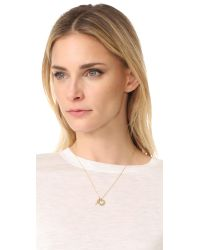 kate spade new york - Metallic Be Mine Cluster Pendant Necklace - Lyst
