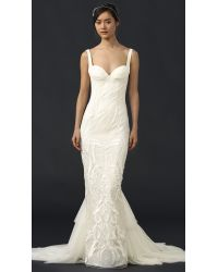 Katie May - White Geneva Gown With Removable Train - Lyst