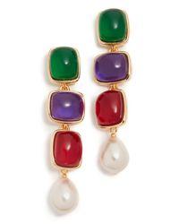 Kenneth Jay Lane - Multicolor Drop Earrings - Lyst