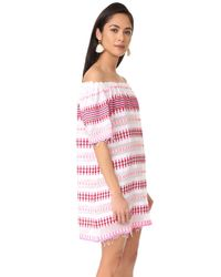 Lemlem | Pink Tabtab Off Shoulder Dress | Lyst