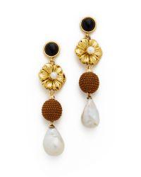 Lizzie Fortunato | Metallic Hill Tribe Column Earrings | Lyst