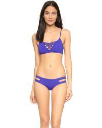L*Space - Blue Estella Bikini Bottoms - Lyst