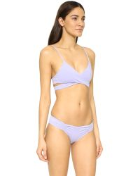 L*Space - Blue Rocky Bikini Top - Lyst
