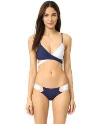 L*Space - Blue Chloe Reversible Bikini Top - Lyst