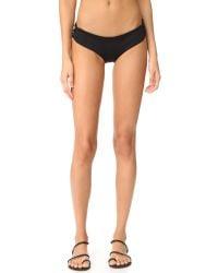 L*Space - Black Lacey Bikini Bottoms - Lyst