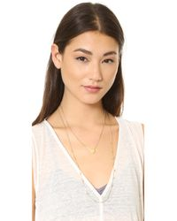 Madewell | Metallic Coin Dot Double Layer Necklace | Lyst