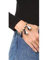 Madewell - Natural Cord & Tassel Cuff Bracelet - Lyst