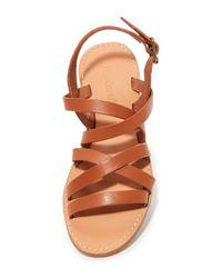Madewell | Brown Boardwalk Multi Strap Sandals | Lyst