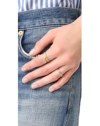 Madewell - Metallic Filament Stacking Ring - Lyst