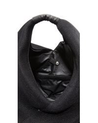 MM6 by Maison Martin Margiela - Black Textured Tote - Lyst