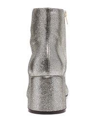 MM6 by Maison Martin Margiela - Gray Metallic Leather Chunky-heel Bootie - Lyst