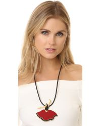 Marni - Red Leather Necklace - Lyst