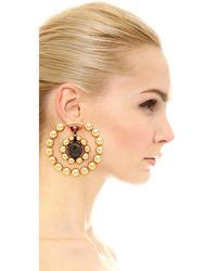 Marni - Metallic Earrings With Resin - Lyst