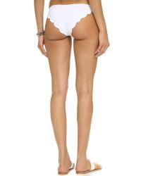 Marysia Swim - White Broadway Scallop Bikini Bottoms - Lyst