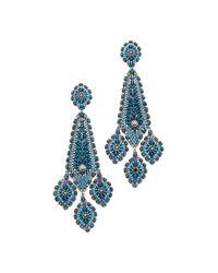 Miguel Ases   Blue Charlotte Earrings   Lyst