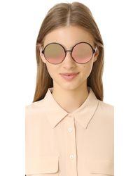 Matthew Williamson - Pink Round Mirrored Sunglasses - Lyst