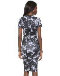 McQ - Blue Bodycon Dress - Lyst