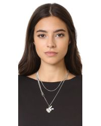 McQ | Metallic Electro Bunny Necklace | Lyst