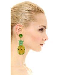 Mercedes Salazar - Green Pina Clip On Earrings - Lyst