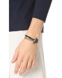 Miansai - Multicolor Modern Anchor Two Tone Wrap Bracelet - Lyst